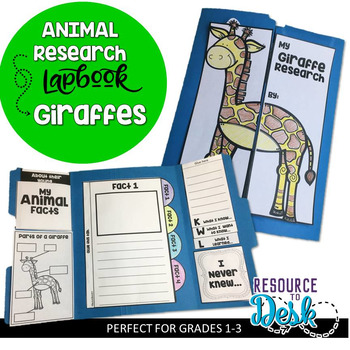 Giraffe Research Project - A Zoo Animal Research Lapbook