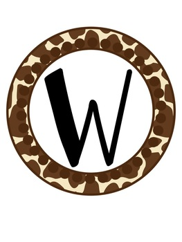 Giraffe Safari Classroom Decor Set - Signs, Calendar, and MORE!