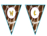 Giraffe-Safari Welcome Pennants