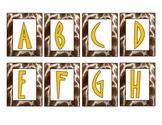 Giraffe-Safari Word Wall Letters