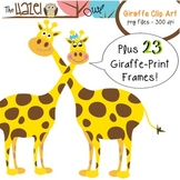 Giraffe Set: Frames and Clipart for Teachers