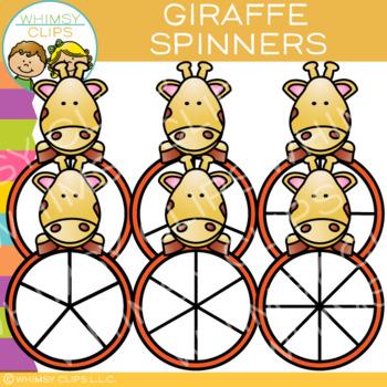 Giraffe Spinners Clip Art