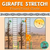Giraffe Stretch! digital game for TELETHERAPY, speech therapy, categories, vocab