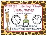 Giraffe Telling Time Task Cards