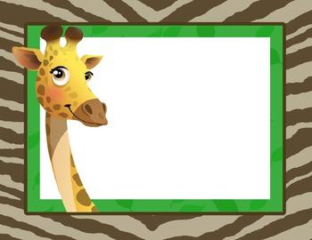 Giraffe Theme Background Template