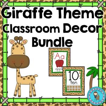 Giraffe Theme Classroom Decor Bundle