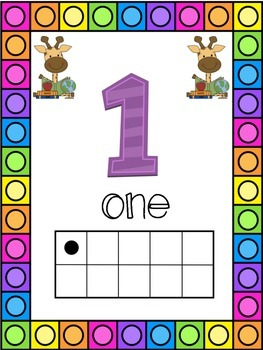 Giraffe Themed 0-20 Numbers Posters