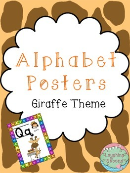 Giraffe Themed Alphabet Posters