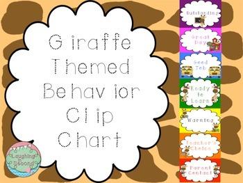 Giraffe Themed Behavior Chart