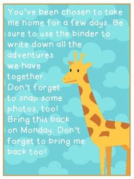 Giraffe Themed Class Writing Journal