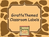 Giraffe Themed Classroom Labels