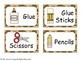 Giraffe Themed Classroom Labels