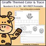 Giraffe Themed Number Color and Trace