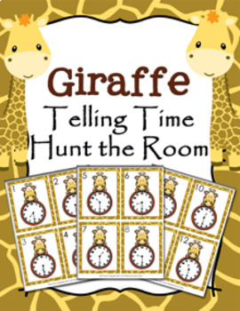 Giraffe Time to the Half  Hour Hunt the Room