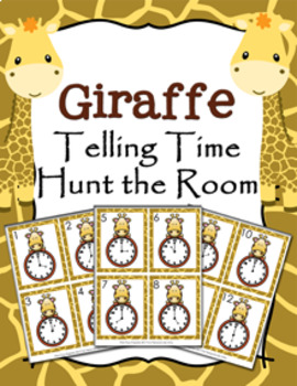 Giraffe Time to the Hour Hunt the Room