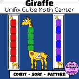 Giraffe Unifix Cube Zoo Math Center: Pattern, Sort & Count
