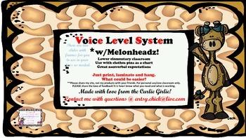 Giraffe Voice Level Charts W/Melonheadz!