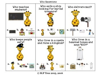 Giraffe Who Questions: 3 Levels