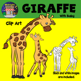 Giraffe Zoo Animals Clip Art