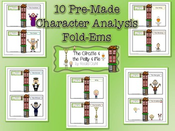 Giraffe and the Pelly and Me Character & Plot Analysis Fold-Ems