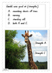 Giraffe's Can't Dance  Comprehension Exercise