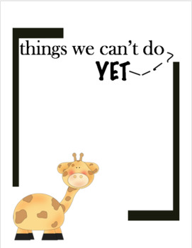 Giraffe's Can't Dance - {things we can't do... yet}