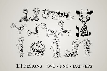 25+ Giraffe Svg / Dxf / Eps / Png Files Crafter Files