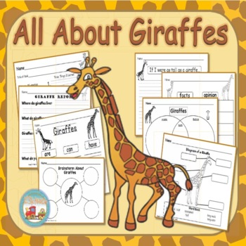 Giraffes, Writing Prompts, Graphic Organizers, Diagram