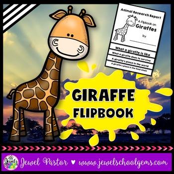 Giraffe Science Activities (Giraffe Research Flipbook)