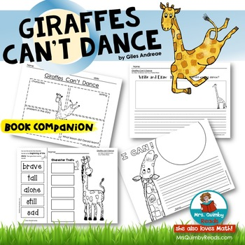 Giraffes Can't Dance - Book Companion - Reader Response -Children's Literature