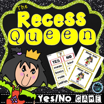 The Recess Queen Character Traits Game