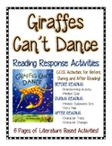 Giraffes Can't Dance--Growth Mindset and SEL Reading Response Activities (CCSS)