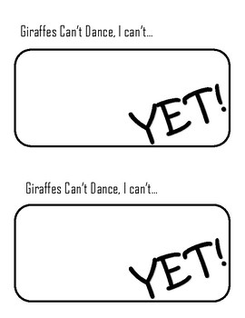 Giraffes Can't Dance, I can't... YET