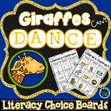 Giraffes Can't Dance Literacy Contracts - Choice Boards