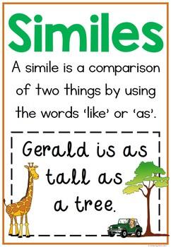 Giraffes Can't Dance Similes Literacy Center