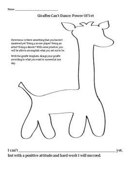 Giraffes Can't Dance: practice, positive attitude, power of yet, imagination