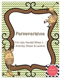 Giraffes Can't Dance - A Lesson & Activity on Perseverance