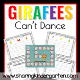 Giraffes Can't Dance Game and Writing Prompts