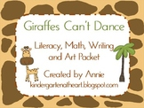 Giraffes Can't Dance Literacy, Math, Writing and Art Packet