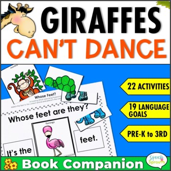 Giraffes Can't Dance Speech Therapy Book Companion