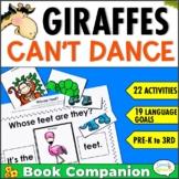 Giraffes Can't Dance Speech Therapy Book Companion