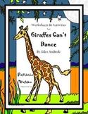 Giraffes Can't Dance Worksheets