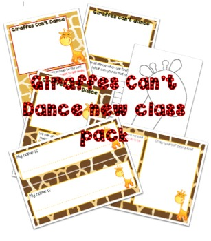 Giraffes Cant Dance get to know you pack