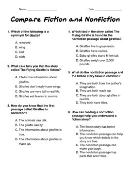 Giraffes: Comparing Fiction and Nonfiction Text