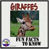 Giraffes PowerPoint - Fun Facts