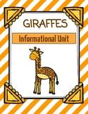 Giraffes Informational Mini-Unit: Nonfiction Texts, Research, Graphic Organizers
