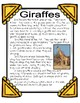 Giraffes Informational Mini-Unit: Nonfiction Texts, Research, Graphic Organizers