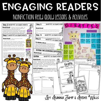 Giraffes Nonfiction Reading Comprehension Unit