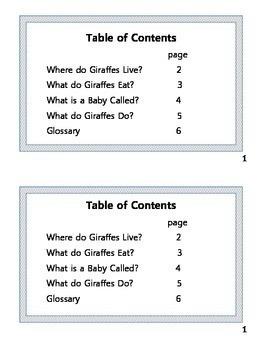 Giraffes: Animal Nonfiction Text & Fiction Text CCSS Reader Response Activities