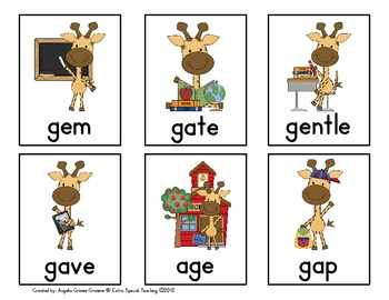 Giraffes at School - A Hard G and Soft G Game